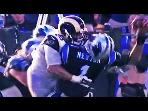Cam Newton Gets Illegal Hit To Head In LA