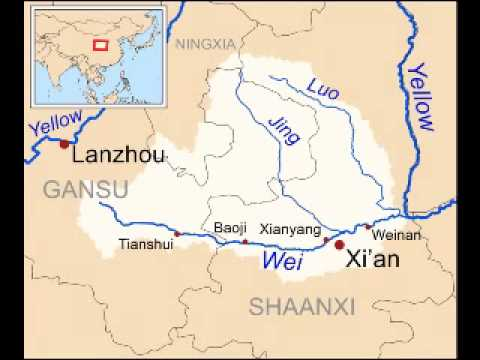 Xi River China Map.The History Of The Wei River Youtube