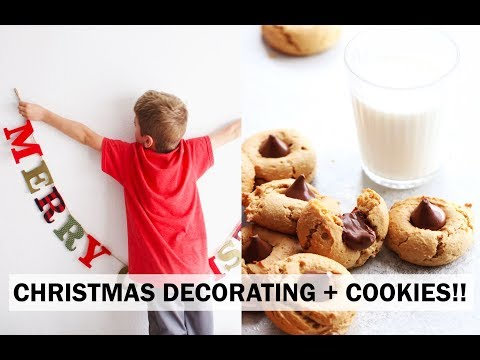Christmas Tree Decorating + Peanut Butter Blossom Cookies Recipe (gluten free)