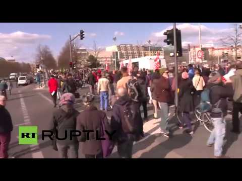 LIVE: 'People and the planet before profits!' demonstration goes ahead in Berlin