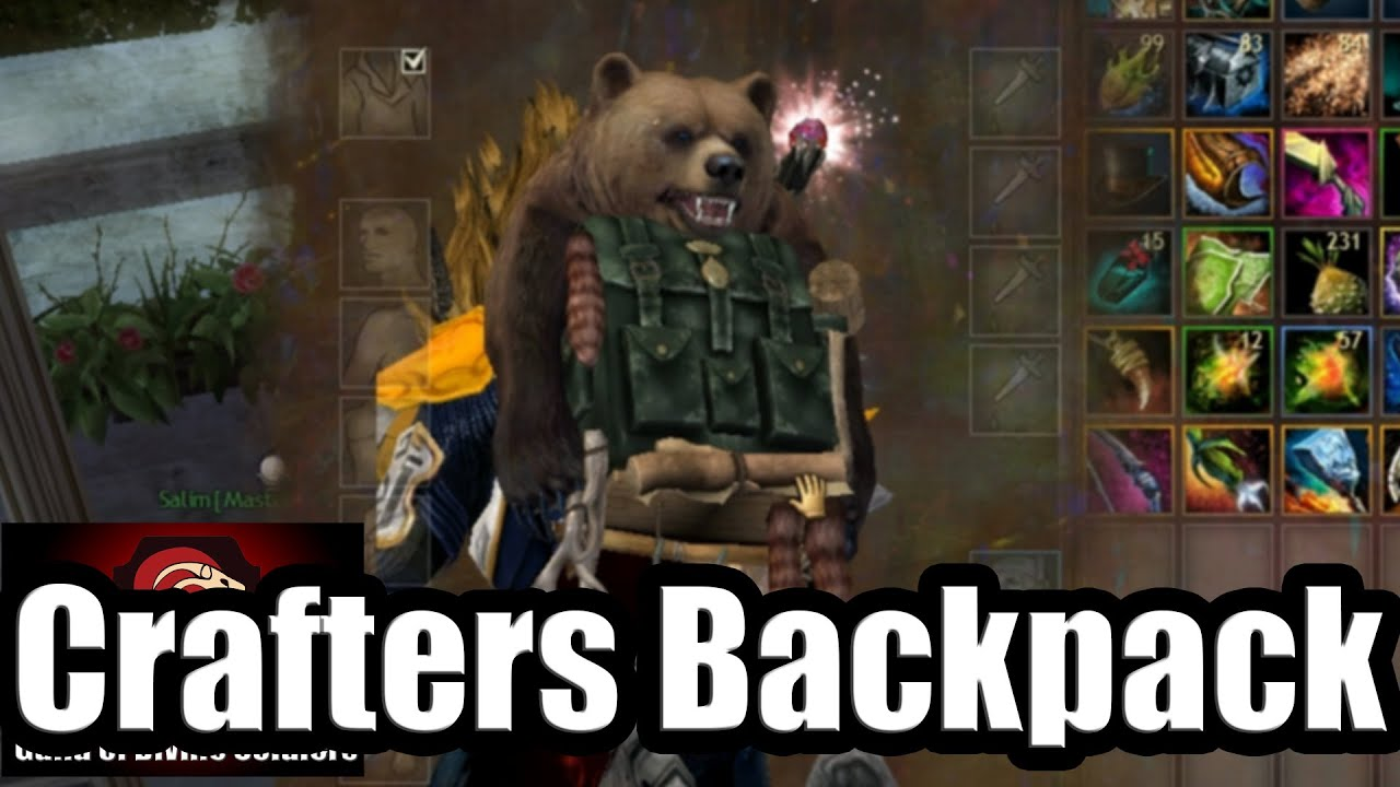 Gw2 Crafting Update Crafters Backpack Youtube