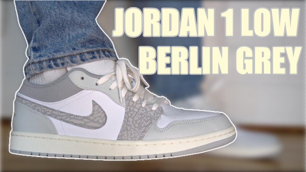 JORDAN 1 LOW BERLIN GREY REVIEW & ON FEET PICKUP VLOG!!