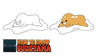 How To Draw Lazy Egg Gudetama Japanese character Drawing Tutorial For Kids So Cute