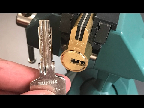 Взлом отмычками CISA Astral S   [415] Cisa Astral S (Pin in Pin!) Euro Profile Cylinder Picked and Gutted ()