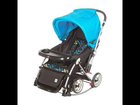 Mee Mee Premium Baby Pram with Rocker Function, Rotating Wheels and Adjustable Seat