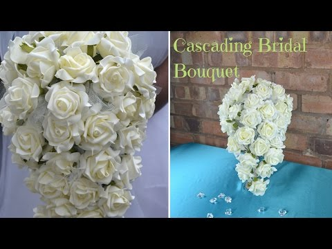 how-to-create-your-own-cascading-bridal-bouquet-:-diy-wedding-flowers