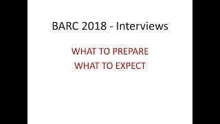 BARC Interviews   How to Prepare