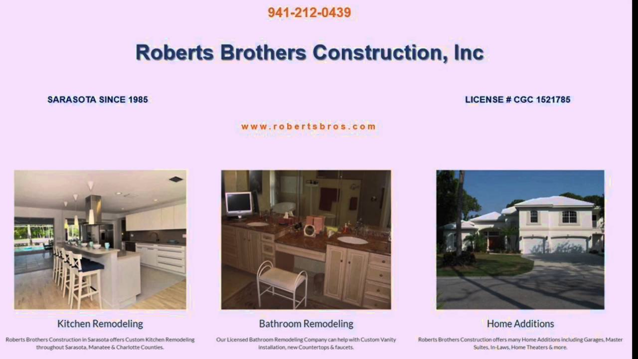 Sarasota Kitchen Remodeling Contractor Roberts Brothers Construction