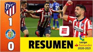 Atlético de Madrid 1-0 Getafe. GOL de Suárez. El Cholo Simeone llegó a los 500 partidos | La Liga