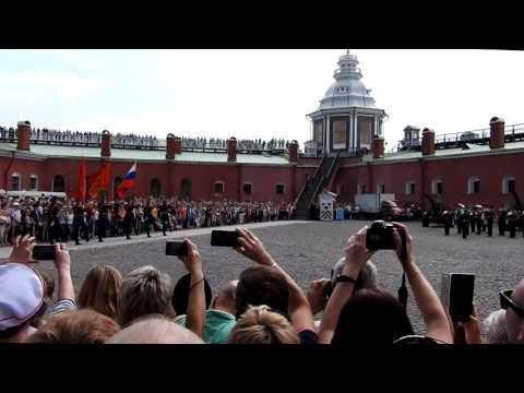 Russian Military Band and Ceremony of Change of Guards in  the Peter and Paul Cathedral