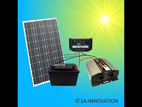 150w wattstunde solaranlage solar bausatz 3 x 50w 12v set garten inselanlage youtube. Black Bedroom Furniture Sets. Home Design Ideas