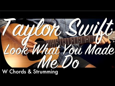 Taylor Swift Look What You Made Me Do Guitar Lesson Tutorial