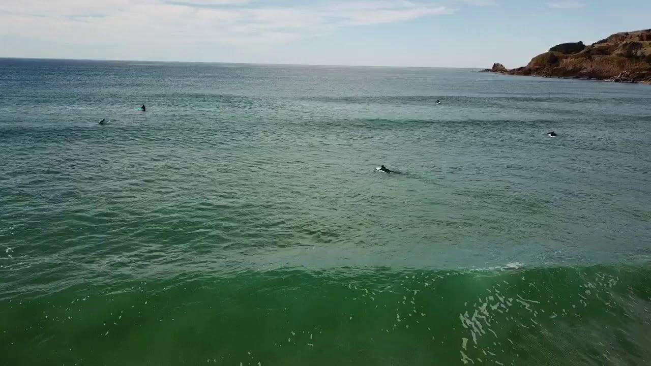 Drone Surfing Agate Beach