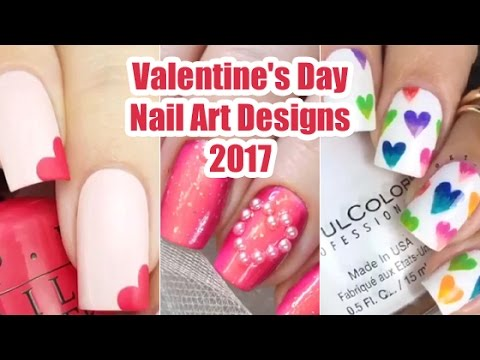 10 Cute Easy Valentine S Day Nail Art Designs 2017