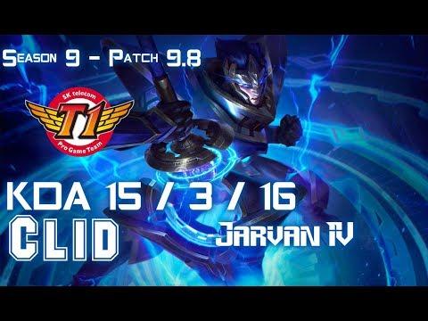 SKT T1 Clid JARVAN IV vs REK'SAI Jungle - Patch 9.8 KR Ranked