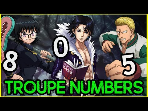 Phantom Troupe Numbers & Names Revealed - Hunter X Hunter Discussion