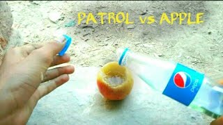 PATROL vs APPLE fire crazy EXPERIMENT.with. | Zohaib ka Experiment |
