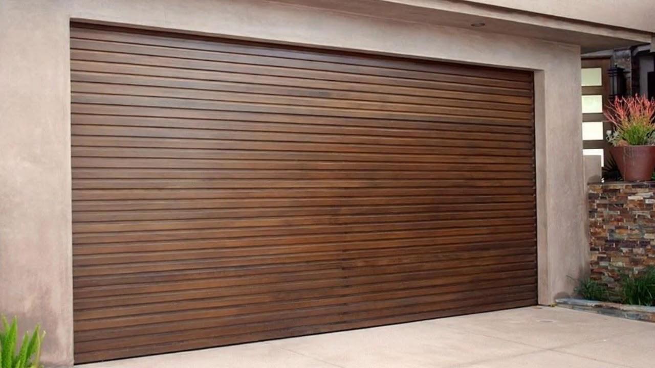 Modern Wood Garage Doors Los Angeles Youtube