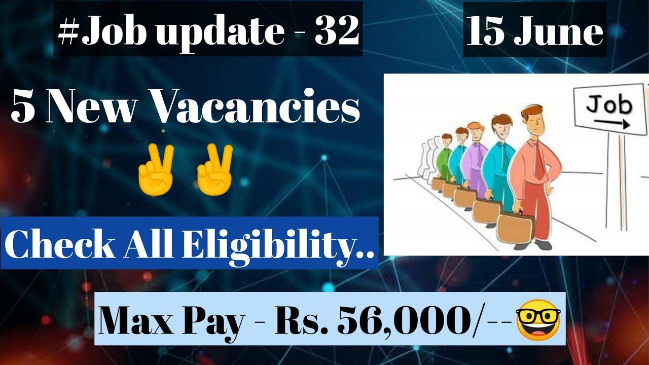 15 June Ki 5 Latest Jobs [Govt Jobs] Check all Eligibility and Apply Online [Sarkari naukari]