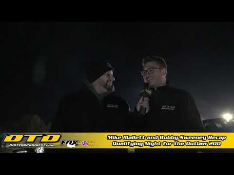 Mike Mallett and Bobby Sweeney break down the four qualifying events at the Fulton Speedway on Friday night as part of Outlaw 200 Weekend. It was a frigid ... - dirt track racing video image