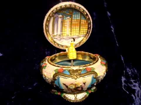 DISNEY BEAUTY AND THE BEAST SCULPTED MUSICAL JEWELRY BOX YouTube