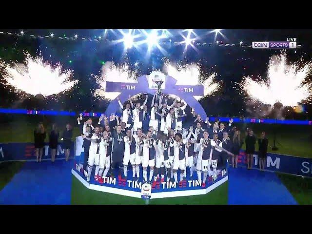Juve's EPIC trophy celebration