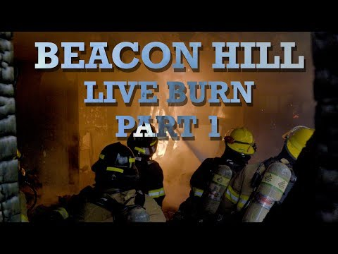 Multiple Unit House Fire Live Burn Training on Beacon Hill - C2FR Firefighter Academy Part 1