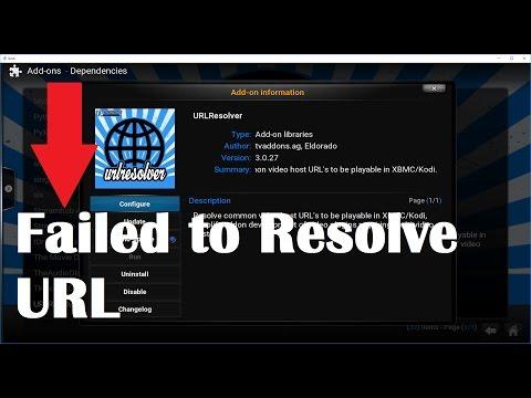 Fixing Failed to resolve URL error in Kodi