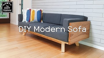 원목 패브릭 소파 만들기  DIY modern sofa