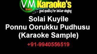 Solai Kuyile Karaoke Ponnu Oorukku Pudhusu