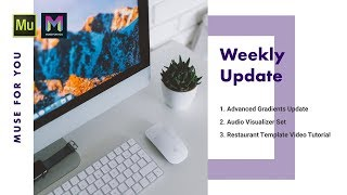 Weekly Update for March 19th - March 25th, 2018 | Adobe Muse CC | Muse For You