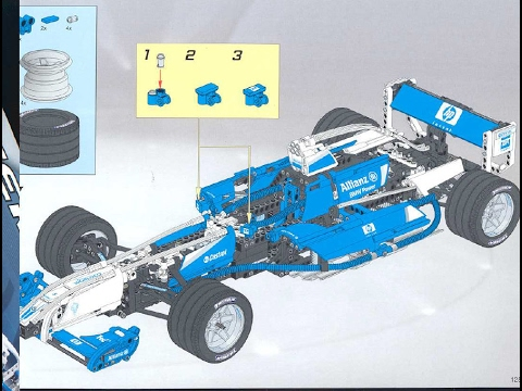 Lego Technic 8461 F1 Williams Building Instructions Youtube