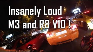 Sunday run with Very LOUD cars | M3 | R8 | Z4 and 6 Series