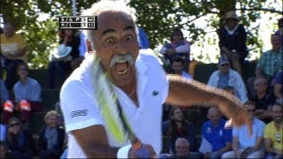 Exclusive tennis match: Noah & Bahrami vs McEnroe & Leconte @ Optima Open