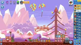 Angry Birds Friends on Facebook SantaCoal & CandyClaus Level 1 No Power Ups 3 Stars Dec 21 2017