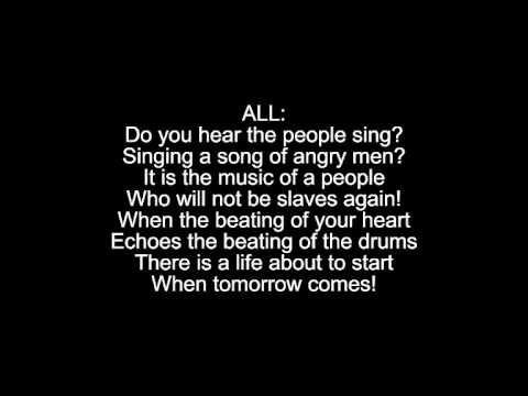 Do You Hear the People Sing? (+ reprise) Lyrics