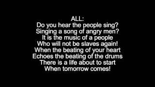 do you hear the people sing? reprise lyrics