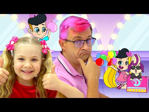 Diana and Roma Learn Colors with Makeovers Cartoon