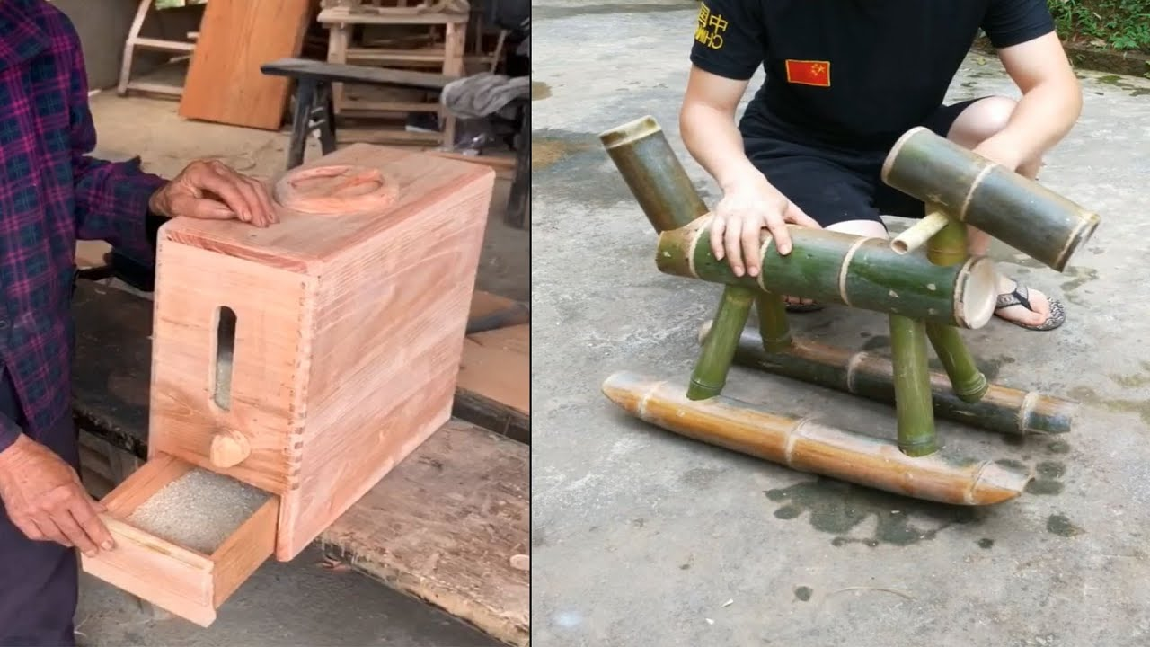 Amazing 5 Creative ideas use bamboo and wood to make useful item