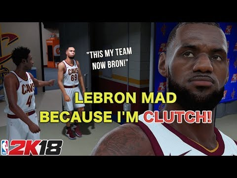 LEBRON MAD BECAUSE I HIT A CLUTCH JUMPER! ( FUNNY NBA2K18 GAMEPLAY #5)