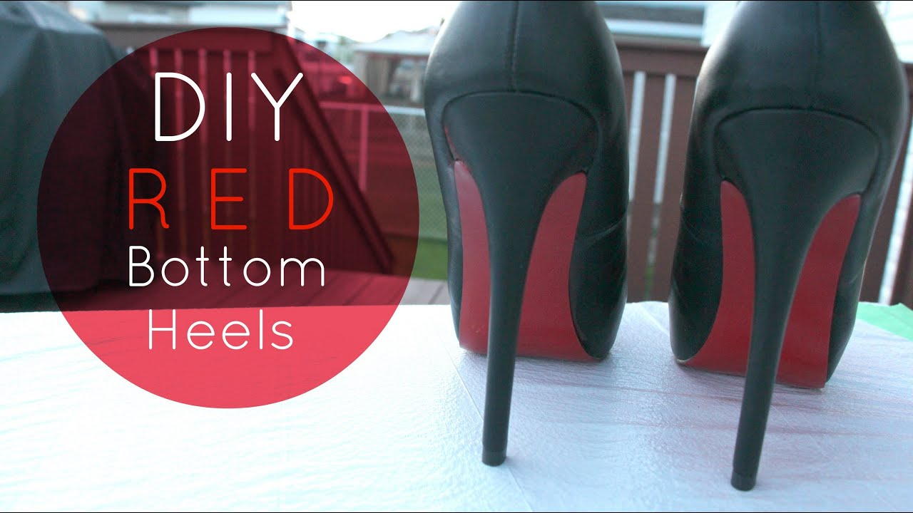 7f921b5a66a1 DIY Christian Louboutin Inspired Red Bottom Heels - YouTube