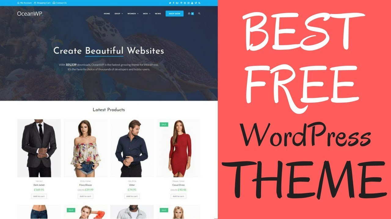 OceanWP - The Best Free Multi Purpose WordPress Theme Demo & Walkthrough