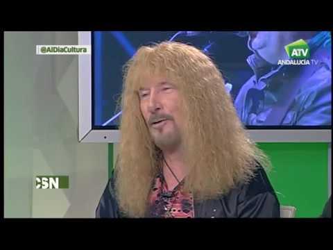 Triana,Alameda y Medina Azahara entrevistados en AndalucíaTv por Jesús Vigorra