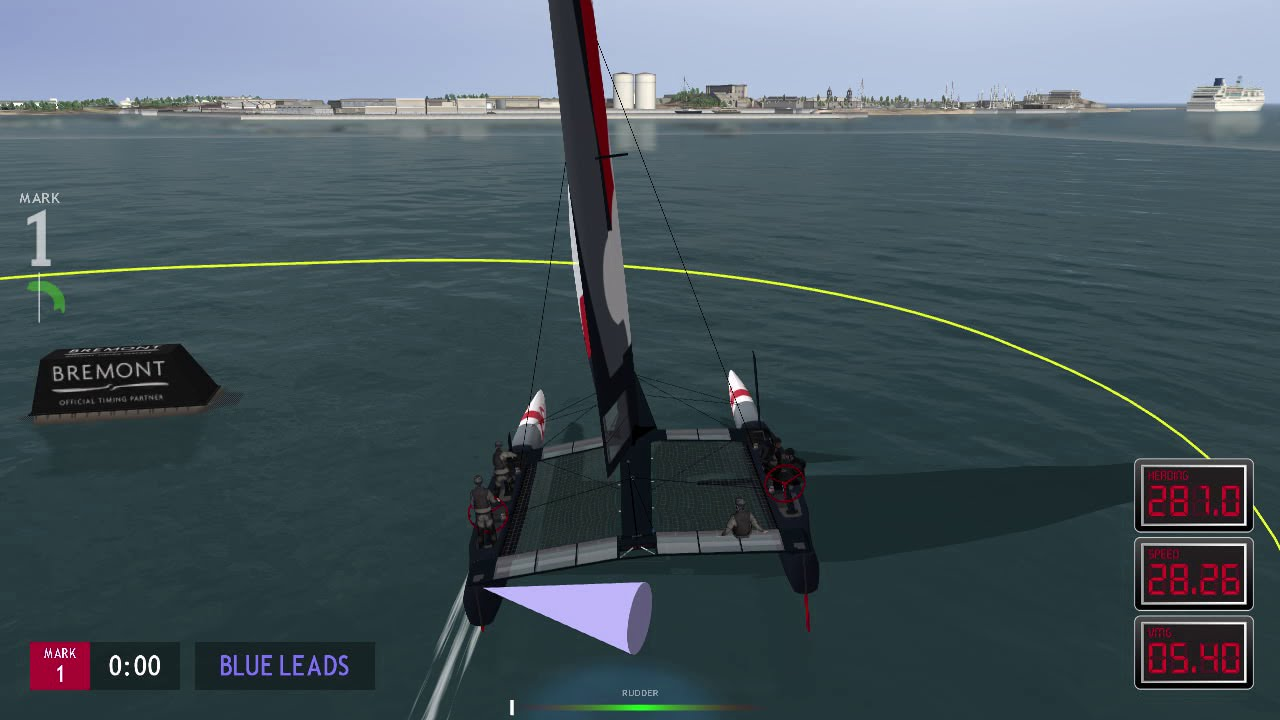 Free sailboat simulation
