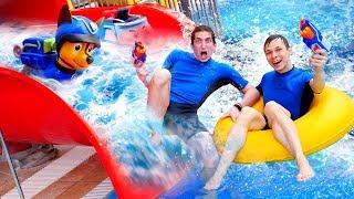 Игры для детей - Челлендж битва в аквапарке! - Щенячий Патруль в видео шоу Акватим.