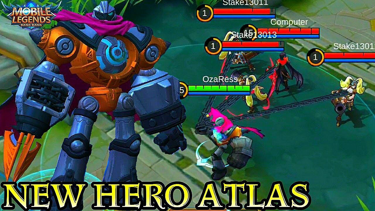 new hero atlas - mobile legends bang bang - youtube
