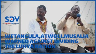 Western region leaders warn  Wetangula, Atwoli, and Musalia against dividing the Luhya nation