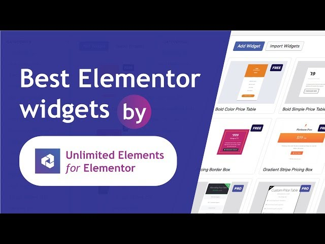 Top Elementor Widgets by Unlimited Elements for Elementor