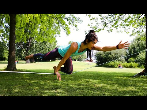 Slackline-Yoga Tutorial by Andrea Dattoli: The Pointer Pose