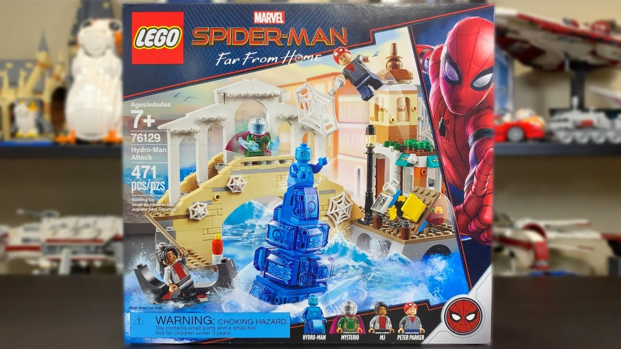 LEGO Spider-Man Far From Home 2019 Hydro-Man Attack Review! Set 76129!
